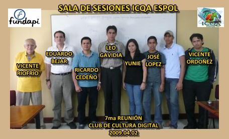 Con los participantes 2009 04 02
