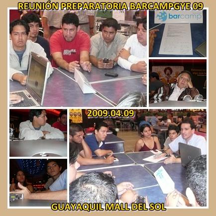 Reunión Preparatoria BarCampGuayaquil09 n2
