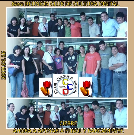 DESPEDIDA Y COMPROMISOS PARA EL 2009.04.16 - .19