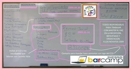 Resumen gráfico de lo elaborado en la 11ma ra reunión CCD ESPOL