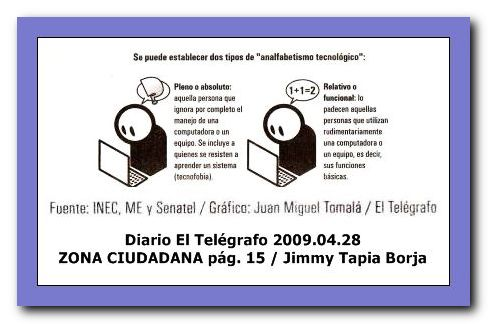 TIPOS DE ANALFABETISMOS TECNOLÓGICOS