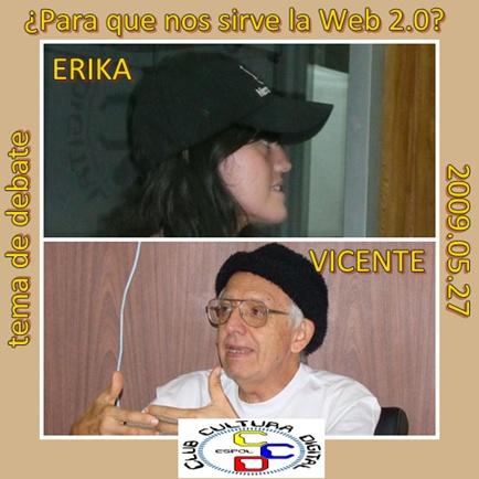 Erika y Vicente presentan sus interpretaciones (coincidentes)