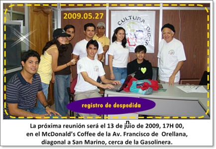 Nos vemos 13 de junio de 2009, vengan novatos, 17H 00
