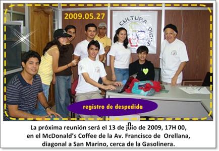 Nos vemos 13 de junio de 2009, vengan novatos, 17H 00