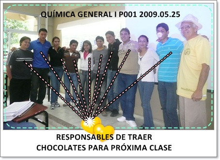 RESPONSABLES POR CHOCOLATES PARA 2009.05.29