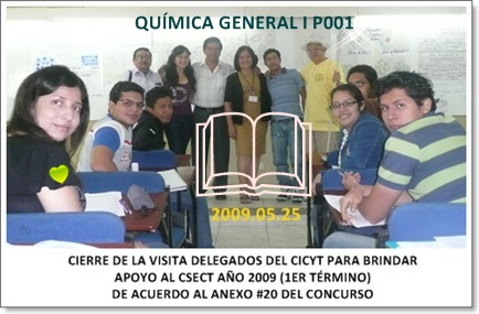 APOYO DEL CICYT AL CSECT AÑO 2009 (1ER TÉRMINO) TERCERA EDICIÓN / ANEXO #20 para el CSECT, 2009.05.25