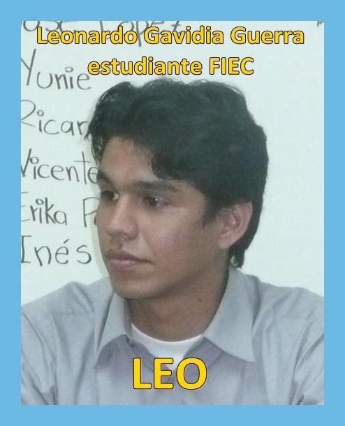 Leonardo Gavidia Guerra, estudiante FIEC