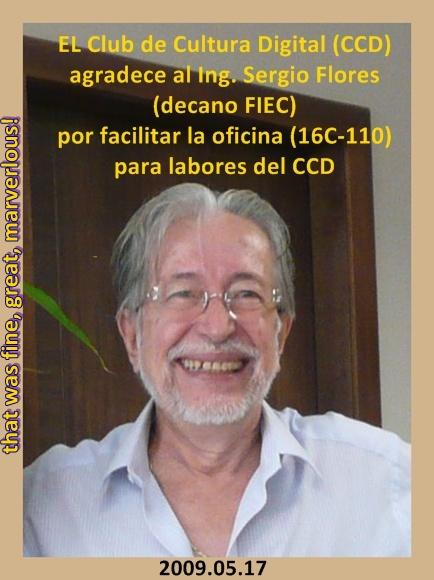 Sergio Flores Macías, DECANO FIEC 2009