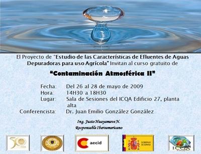 Curso de Contaminación Atmosférica II (26 al 28 de mayo de 2009)