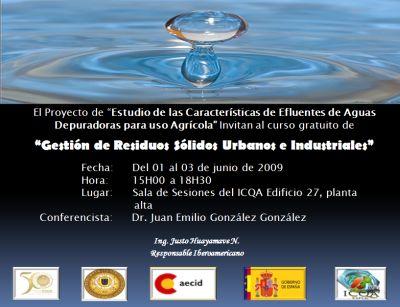 Gestión de Residuos Sólidos Urbanos e Industriales (01 al 03 de junio de 2009)