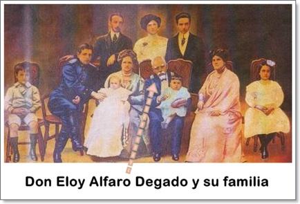 General Eloy Alfaro Delgado y familia