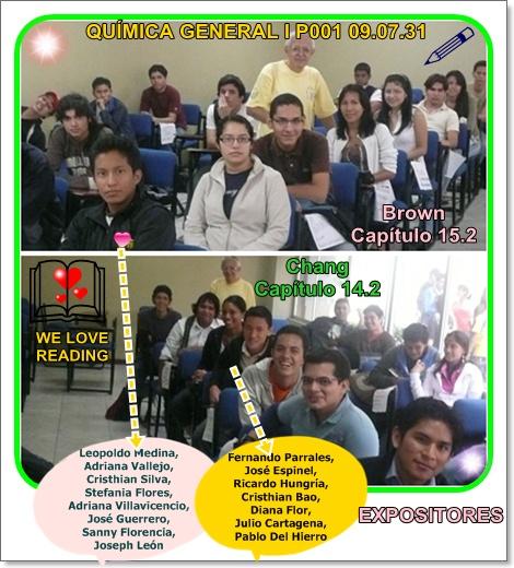 Expositores de la clase del lunes 03 de Agosto 2009