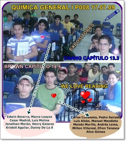 EXPOSITORES PARA LA CLASE DEL JUEVES 09.07.23