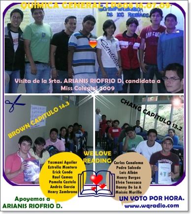 EXPOSITORES PARA EL VIERNES 17.07.09