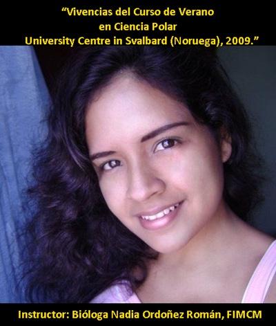 Bióloga Nadia Ordoñez Román