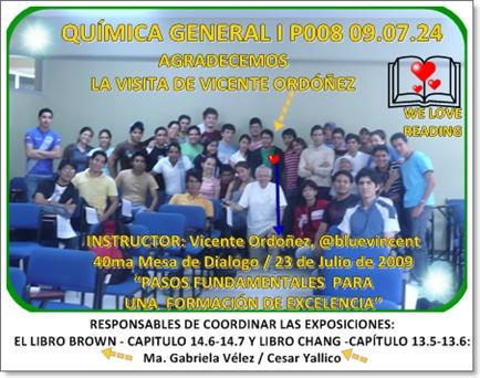 Responsables de la clase del jueves 30.07.09: Ma. Gabriela Vélez, Cesar Yallico