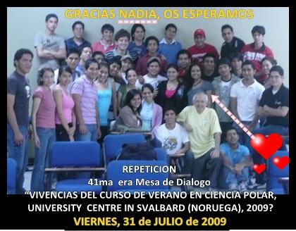 REPETICION 41ma  era Mesa de Dialogo a cargo de Nadia Ordoñez