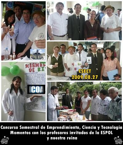 Profesores de la ESPOL y la Reina CSECT 2009-08-27 nos honran con su presencia