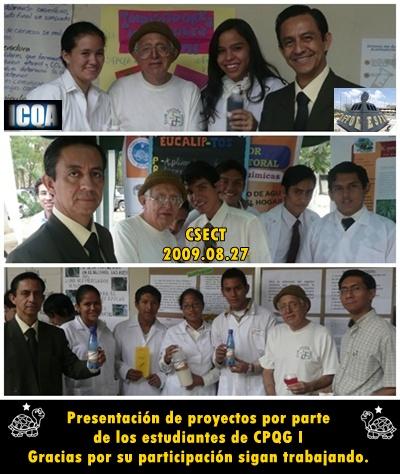 Los estudiantes nos hicieron sentir su orgullo y aprecio por los productos de la Feria CSECT 2009-I