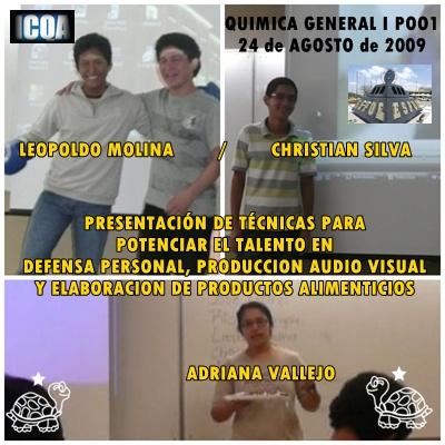 Más muestras de presentación de talentos en P001, 20090824