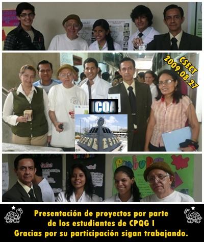 Estudiante, Profesores y Personal de Apoyos en la Feria CSECT 2009-I