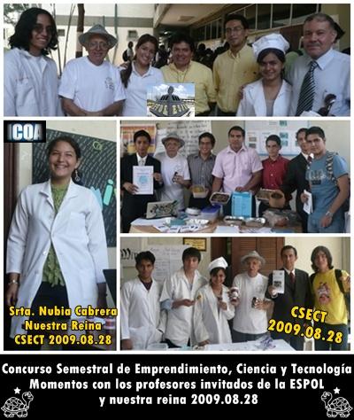Profesores Invitados y nuestra Reina CSECT 2009.08.28