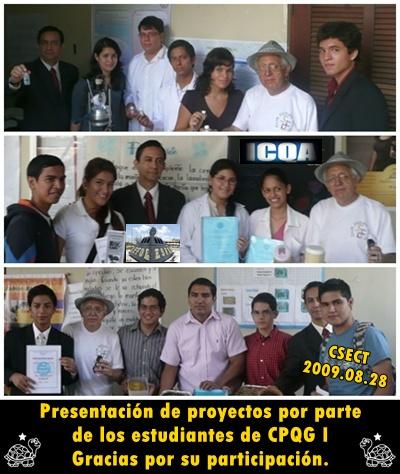 Momentos en los que estudiantes exponen sus proyectos en el CSECT 2009.08.28