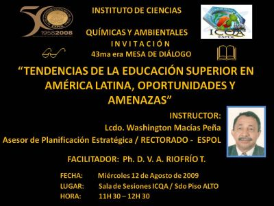 Instructor: Lcdo. Washington Macas Pea / Asesor Planificacin Estratgica
