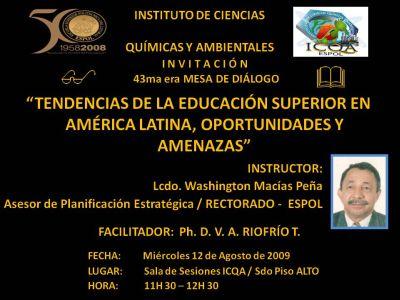 Instructor: Lcdo. Washington Macías Peña / Asesor Planificación Estratégica