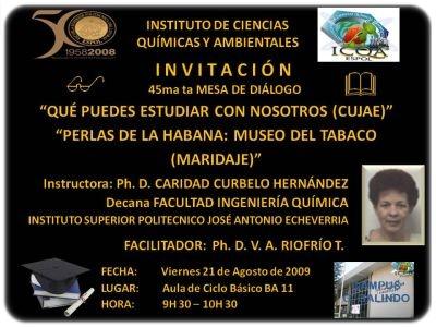 Nuestra invitación para el viernes 2009.08.21 en el aula BA 11 CC. BB.