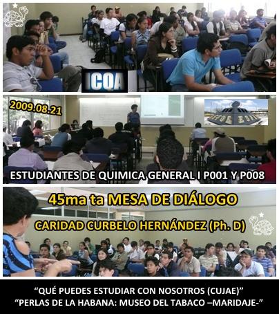 Momentos de la 45ma ta Mesa de Diálogo ICQA ESPOL