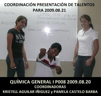 Coordinadoras tarde de talento:Kristell Aguilar Iñiguez y Pamela Castelo Barba éxito en su trabajo
