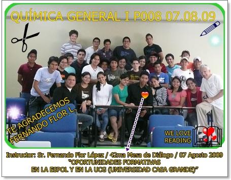 Estudiantes del P008 en la repetición de la 42ma Mesa de Diálogo 07.08.09