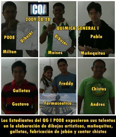 Algunos talentos estudiantiles del P008 2009.08.28
