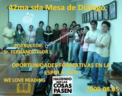MOMENTOS AGRADABLES EN LA DESPEDIDA. HASTA EL VIERNES 2009.08.07