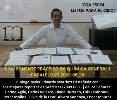 Los mejores reportes alegran al Blgo. Javier E. Marriott Castañeda