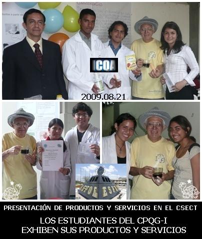 Momentos de la exhibición de productos dentro del CSECT 2009.08.24
