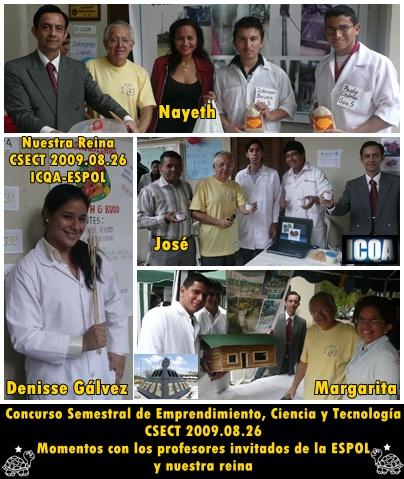 Denisse Gálvez Reina CSECT 2009.08.26 y Profesores invitados