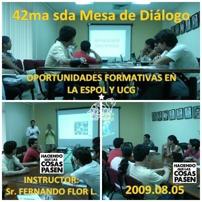 Momentos de la 42ma sda Mesa de Diálogo ICQA ESPOL