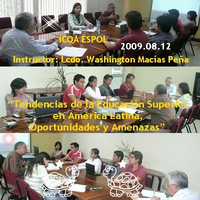 Vivencias en la 43ma era Mesa de Diálogo ICQA ESPOL