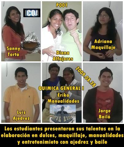 Algunos talentos estudiantiles del P001 2009.08.28