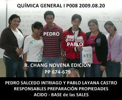 Responsables de la exposición 2009.08.21:Pedro Salcedo Intriago y Pablo Layana Castro
