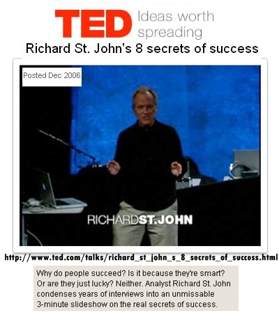 Richard St.John on success
