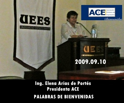 PRESIDENTA DE ACE OFRECE EL FORO