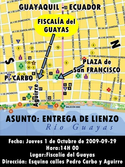 Como llegar a la fiscalia del guayas el 2009.10.01 a las 14:00