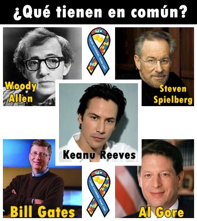 Woody Allen, Bill Gates, Steven Spielberg, Al Gore, Keanu Reeves