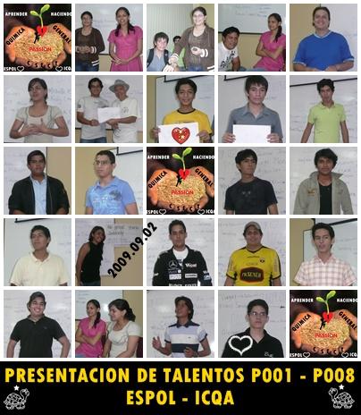 Presentación de talentos p001 - p008