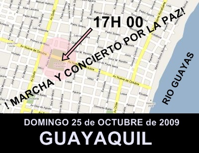 AS SE LLEGA A LA PLAZA DEL CENTENARIO EN GYE EC
