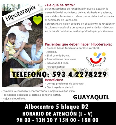 HIPOTERAPIA EN GUAYAQUIL