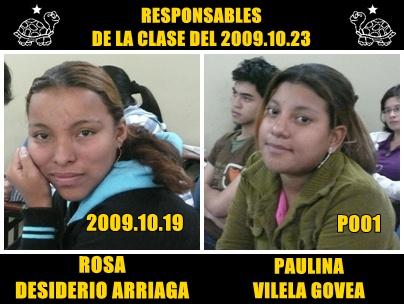 RESPONSABLES DE LA EXPOSICIÓN PARA LA CLASE DEL 2009.10.23